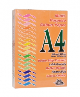 Battleship Product® A4 Colour Simili (80gsm) - Orange/ Saffron